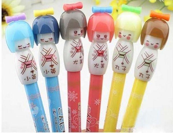 Children's stationery, 36pcs cute Cartoon Japanese dolls gel pen/Korean Style/Promotion Gift /Fashion/Wholesale, dandys