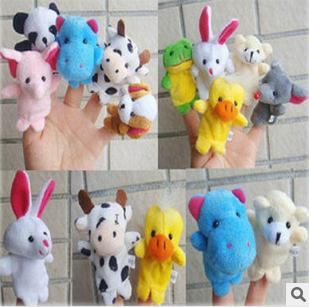 Retail-Double finger toys for children with foot animal toys, fingers Even, finger hand puppet, plush toys, finger puppets, baby doll/puppet