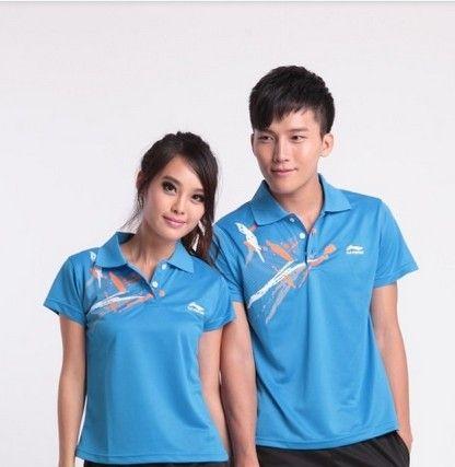 Wholesale男性と女性のバドミントンスポーツウェア夏の汗速乾燥ファブリック17283 Tシャツ