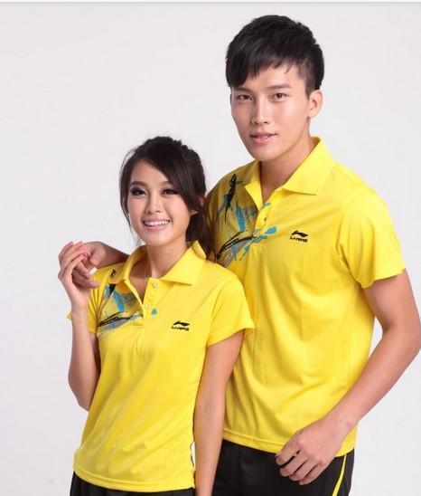 Partihandel Man och Kvinna Badminton Sportkläder Sommar Svett Snabbtorkande Tyg 17283 T-shirt