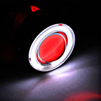 Wholesale Motorcycle Headlight Lenses - Universal Motorcycle 35w 2 inch Hid Bixenon Projector Lens Headlight Kit White CCFL Angel Eye and Red Devil Eye