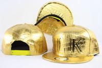 Wholesale Snap Mechanic - Gold Leather Last King Snapback Hats Hip Hop Snapbacks Hats Sport Team Caps Headwear LK Cheap Snap Back Mix order Free Shipping