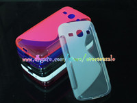 Wholesale Galaxy Trend Gel - S line Wave Soft TPU Gel Silicone Back clear transparent Crystal skin cases cover case For Samsung Galaxy Trend 3 G3502 G3508 10pcs 20pcs