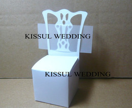Wholesale Place Card Chair Favor Box - Wedding souvenirs Miniature Chair Place Card Holder and Favor Box name card including For wedding invitation box 100pcs lot cheapest gift