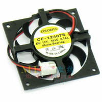 Wholesale Dual Cf - Free Shipping COLORFUL CF-12407S 4007 4cm 40mm DC 12V 0.14A Sleeve Bearing Computer CPU Cooler Cooling Fan