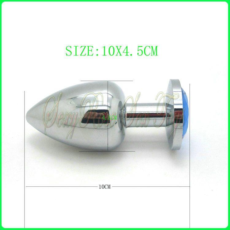 ビッグメタルバットプラグ、アナルプラグ、セックストイアナル、セックス製品10x4.5cm