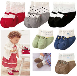 Wholesale Ankle Sock Baby Slip - Shoes Slipper Baby Ankle socks Baby Boat socks Girl Boy Anti-slip Socks YFF