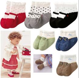 Wholesale baby boy socks shoes - Shoes Slipper Baby Ankle socks Baby Boat socks Girl Boy Anti-slip Socks YFF