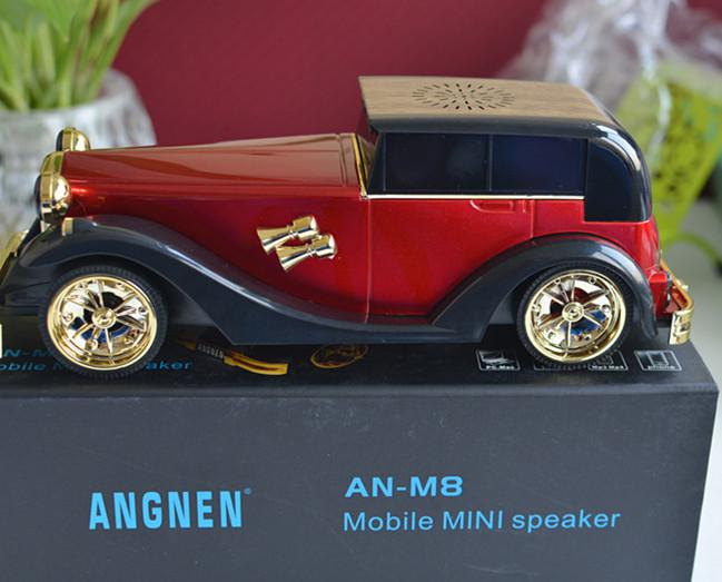 AN-M8 Mini Classic Car Portable Speaker Wired Stereo Music Speakers With TF  Card Slot USB FM Radio