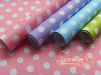 Wholesale Wholesale Valentines Presents - Polka Dot Gift Wrapping Paper Valentine Present Wrap Gift Packing Wallpaper Festival Supplies Wholesale 75*52cm Free Shipping