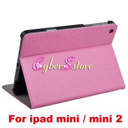 Wholesale Ipad Cheapest Price - ipad mini 2 Smart Cover Cross Pattern Leather Case Book Stand For iPad Mini2  mini 1 Cheapest price