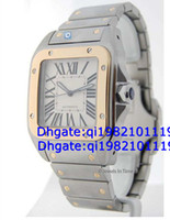 xl gold uhren großhandel-Fabrik Direktverkauf von hoher Qualität niedriger Preis 100 XL Mens 18k Gold Steel Watch