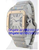 relógios ouro xl venda por atacado-Vendas diretas da fábrica de alta qualidade baixo preço 100 XL Mens 18k Gold Steel Watch