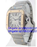 xl relojes de oro al por mayor-Ventas directas de fábrica de alta calidad de bajo precio 100 XL para hombre 18k oro acero reloj