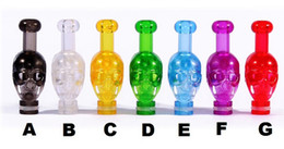 Wholesale Skull Plastic Drip Tip - Electronic Cigarette Plastic 510 Skull Drip Tip Fit E-cig CE4 CE5 510 Thread Atomizers for EGO T EGO Battery Colorful E-Cig EGO Mouthpiece