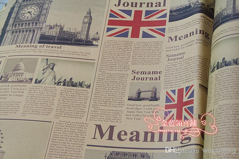 Vintage Gift Wrapping Paper Newspaper Gift Wrap Paper Wallpaper Festive & Party Supplies 75*52cm Wholesale