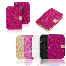 Wholesale Diamond Ipad Covers - S5Q Magnetic Crystal Diamond Flip Leather Case Stand Cover Protector For iPad Mini 2 AAACUC