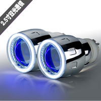Wholesale Xenon Lens H7 - Wholesale price 2.5 inch Bi-Xenon HID Projector Lens angel eyes devil eyes H1 H4 H7 9005 9006