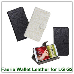 Wholesale Lg G2 Credit Case - 10PCS Faerie Lovely Girl's Styke PU Leather Wallet Case for LG Optimus G2 D802 with Credit Card Holder Free Shipping