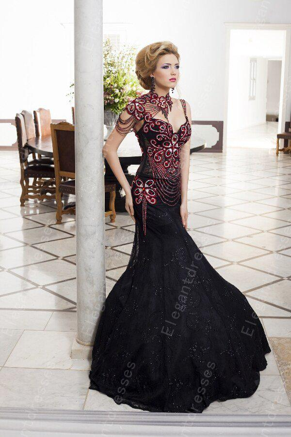 Best selling 2017 Gorgeous Inspired Beaded Bodice Mermaid Black Prom Dresses/ Evening dresses With Cap Sleeves Fitted Prom Dresses