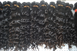 Cheapest Wave Hair Canada - Hot Sale brazilian curly virgin hair cheapest the Princess Hair Mix Length 3pcs Color # 1b free shipping