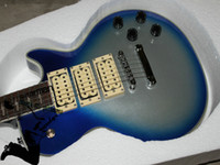Wholesale Guitar Case Blue - Custom Shop Ace Frehley Electric Guitar Blue with case Free shipping