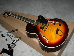 Wholesale Electric Guitars Es - New Arrival Custom ES Hollow Electric Guitar in Sunburst Custom Shop Guitar
