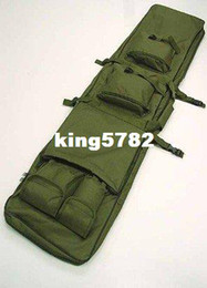 """Wholesale Dual Tactical Rifle Carrying Case - 40"""" SWAT Dual Tactical Rifle Carrying Case Gun Bag OD free ship"""