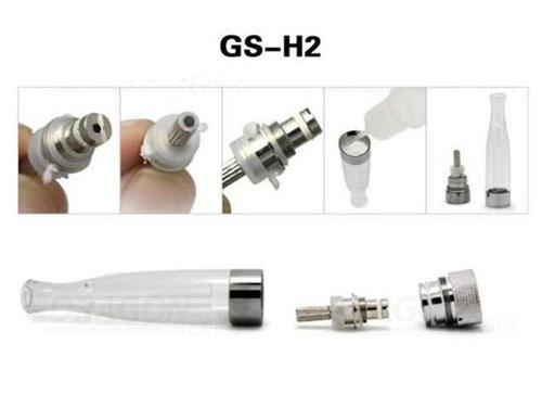 Factory price GS H2 Atomizer Core Changeable GS-H2 Clearomizer coil head Replaceable GSH2 Cartomizer EGO ego t E cig Electronic Cigarette