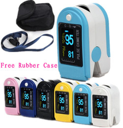 Wholesale Rubber Fingertips - Big Discount Pluse Oximeter,Fingertip SPO2 Monitor CMS50D with CE &FDA Approved+Free Shipping+ Silicon Rubber Case