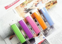 Wholesale Micro Usb Portable Battery Pack - Universal powerbank 2600mAh Lipstick Emergency Mobile Cell Phone Power Bank Portable External Battery Micro USB Travel Charger Pack