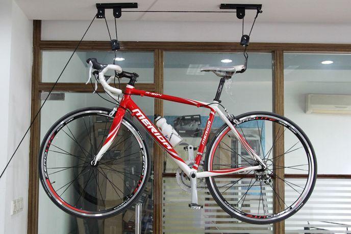 2018 Mtb Road Bike Bicycle Lift Hoist Ceiling Mount Bike Storage Hanger Roof Rack Hook Garage Stand 608 Car Frame From Lisino $39.76 | Dhgate.Com & 2018 Mtb Road Bike Bicycle Lift Hoist Ceiling Mount Bike Storage ...