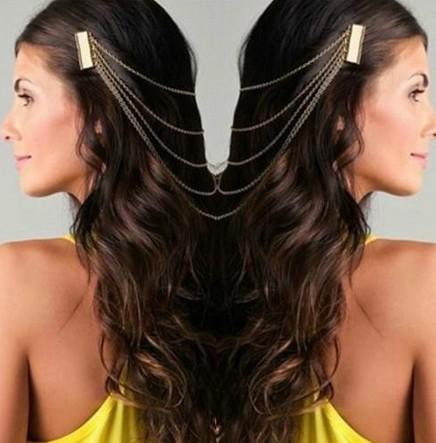 продвижение - новые женские старинные золотые/серебряные цепи бахрома кисточкой расческа волос манжеты женщин глава клипы HAIRBAND