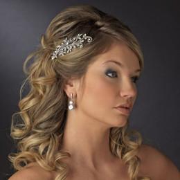 Peine nupcial del pelo nupcial de la joyería Tiaras cristalinas de la flor Accesorios para el pelo Brillante peinado de la novia En Stock Listo para enviar desde fabricantes