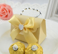 Wholesale Box Marriage - hot 100pcs color small carry bags with chain DIY marriage charm Shower Favor Candy Boxes Wedding Party Gift hold bag