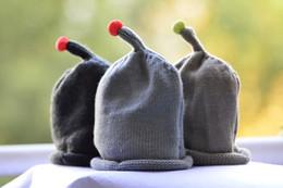 Wholesale Girl Crocheted Outwear - Baby knitted caps hats children's kids bienbien fluorescent bean ball warm winter cap hat Christmas headgear cap sport outwear XMAS gifts