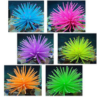Wholesale Silicone Fish Plant - S5Q Silicone Soft Aquarium Fish Tank Decor Artificial Coral Plant Decoration New AAABAT