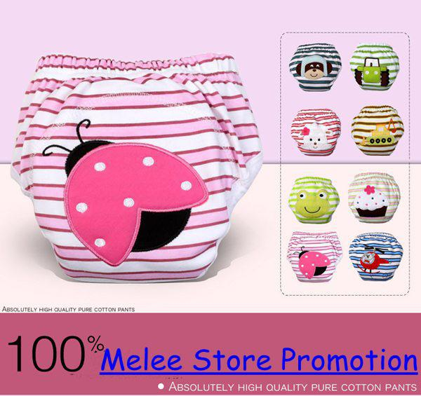 best selling DHL Fedex EMS New Cars Spring 3-Layers Waterproof Cotton Baby Potty Training Pants Owl Lady Bug Bee Diapers Zebra Learning Pants U Pick Size