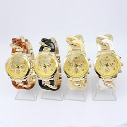 Wholesale Chain Watches For Men - Lot 50pcs Fashion design new arrival Geneva cowboy chain strap watch 4colors for choice quartz movement luxury men watches DHL free best2011