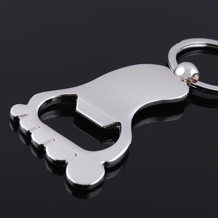 / bewegliche Personalisierte Fuß Flaschenöffner Schlüsselbund Schlüsselanhänger Alloy Hochzeit Partei-Geschenk