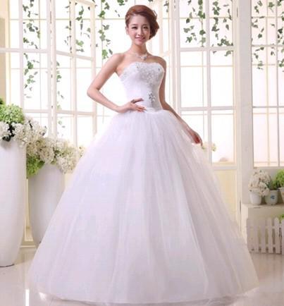 Wholesale New Arrival Hot Sale Fashion Spike Sweety Palace Princess Straps Lace Up Love White Bra Strapless Diamond Wedding Dress Tea Length