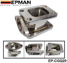 EPMAN Hochwertiges T3-T3 Gusseisen TURBO MANIFOLD ADAPTER + 38 MM WASTEGATE FLANGE OUTLET EP-CGQ20 auf Lager