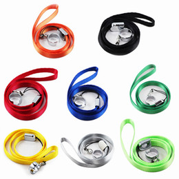 Wholesale Electronic Cigarette Lanyard Rings - Hot selling lanyards ego Necklace String Neck Chain Sling w  Clip Ring for ego series Electronic Cigarette E Cigarette Mix colors free DHL