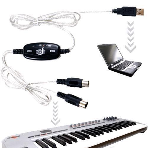 s5q usb midi cable to keyboard module controller interface adapter for pc laptop aaaafc cables. Black Bedroom Furniture Sets. Home Design Ideas