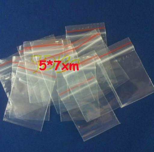 Freier EMS-DHL-angemessener Preis / 5cm * 7cm Freie wiederverschließbare Plastiktaschen PET-Zip-Verschluss-Taschen Nahrungsmittelspeicher-Beutel-Schmucksache-Ring-Ohrring-Taschen