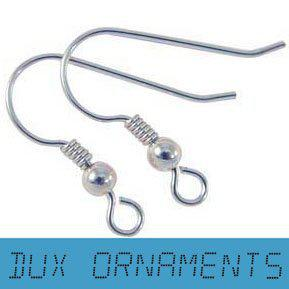 Wholesale/Retail Sterling Silver/Gold/Dull /Bronze Earring Finding French Ear Wire Hook Earrings Fish Hooks with Coil and ball