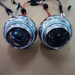 Wholesale Devil Hid - 3 inch angel eye ring-bixenon projector lens light hid xenon kit with CCFL Devil eyes