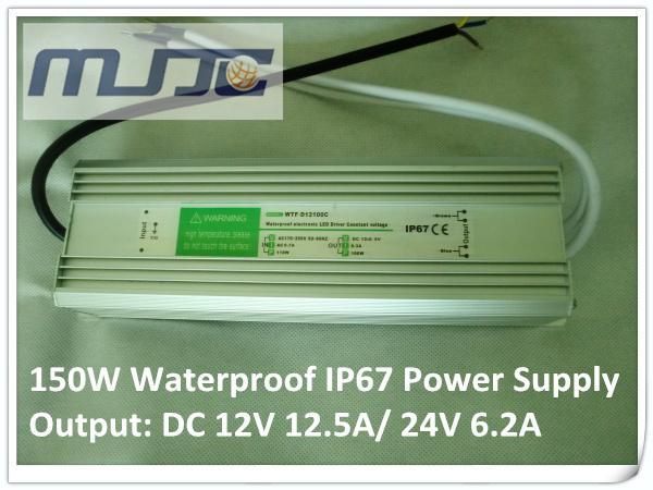 Aluminiumlegeringskal 90-277V AC till 12V 24V DC 8.3A 100W IP67 Vattentät elektronisk LED-drivrutinväxling
