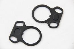Wholesale End Plate Dual Loop Sling - 10PCS LOT End Plate Dual Loop Hook Sling Ambidextrous Adapter Mount Attachment
