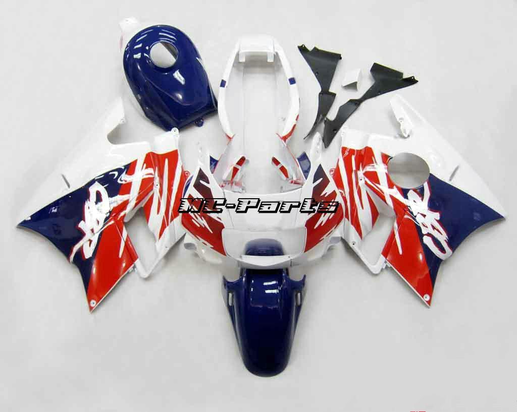 Red Blue White ABS Kit de carenado para Honda CBR600 F2 1991 1994 91 92 93 94 CBR 600 F2 600F2 Cargados